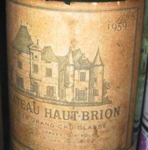 1959 haut brion 296x300 Graves Classification of 1959 Bordeaux Wine