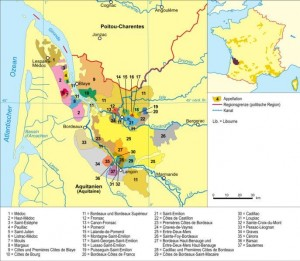 BDX Map detailed1 300x261 Maps Of Bordeaux Wine Producers, Appellations, Chateaux