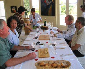 Beausejour Becot dinner 300x245 Beau Sejour Becot St. Emilion Bordeaux Wine in the Spotlight