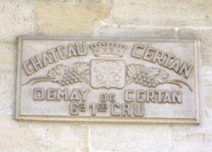 Certan de May cement sign 300x215 Chateau Certan de May Pomerol Bordeaux, Complete Guide