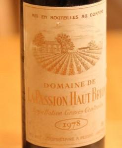 Passion Haut Brion Label 247x300 Domaine Allary Haut Brion Pessac Leognan Bordeaux, Complete Guide