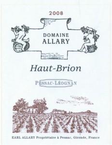 allary pessac leognan 232x300 Domaine Allary Haut Brion Pessac Leognan Bordeaux, Complete Guide