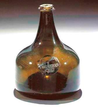Onion shaped wine bottle