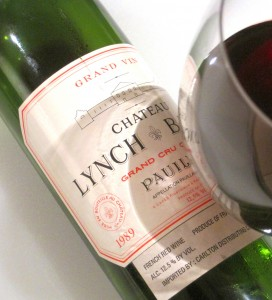 lynch bages 89 bottle glass side 272x300 1989 Lynch Bages coats your mouth with chocolate covered cassis