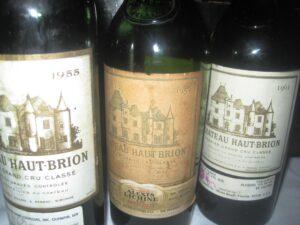 tenser 59 haaut brion 300x225 Haut Brion Wine Tasting 1955, 1959, 1961, 1982, 1989,1990 Haut Brion!