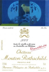 2008 mouton 208x300 Mouton Rothschild 2008 label from Chinese artist Xu Lei