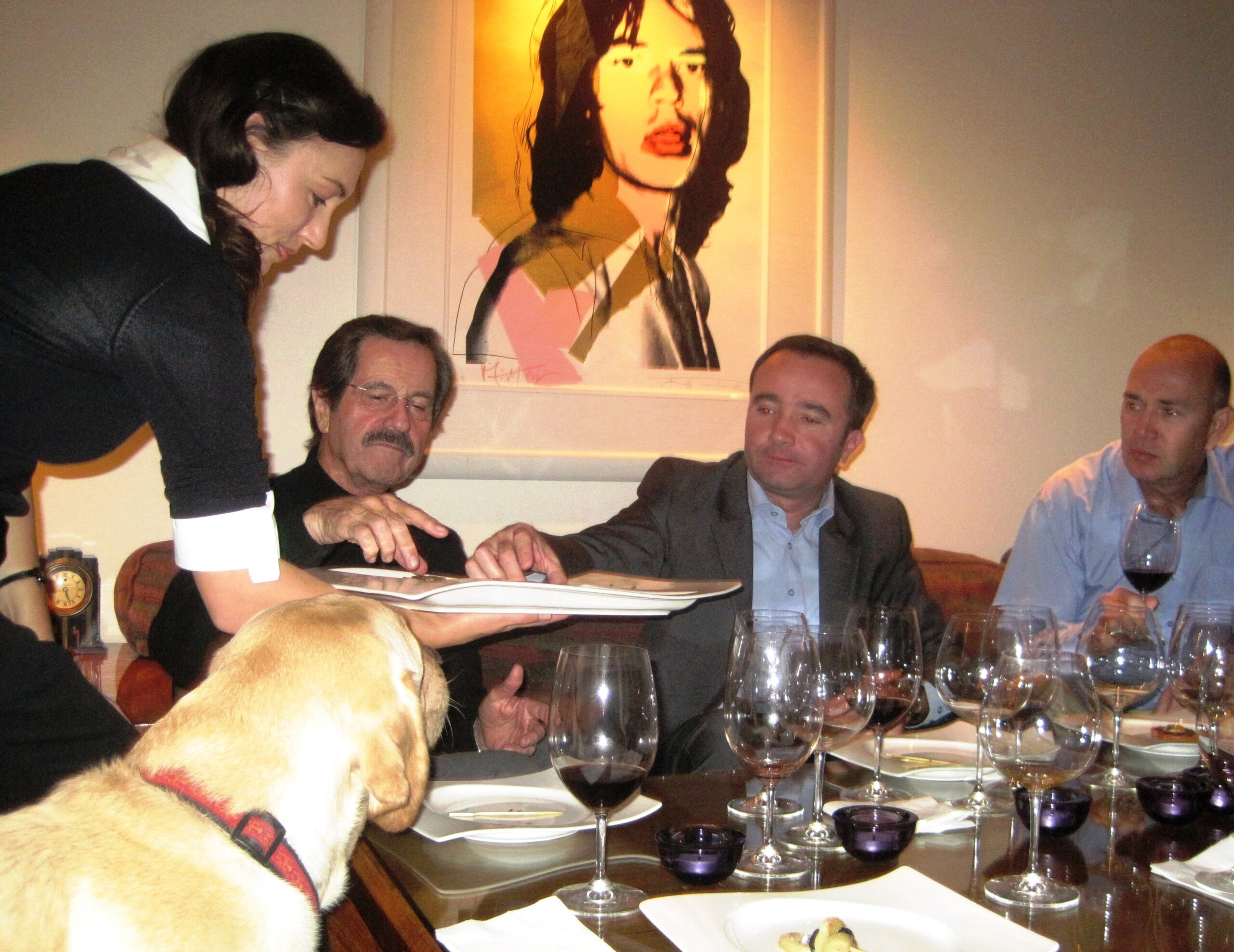 Jean-Philippe Delmas Haut Brion and other wines shared over dinner
