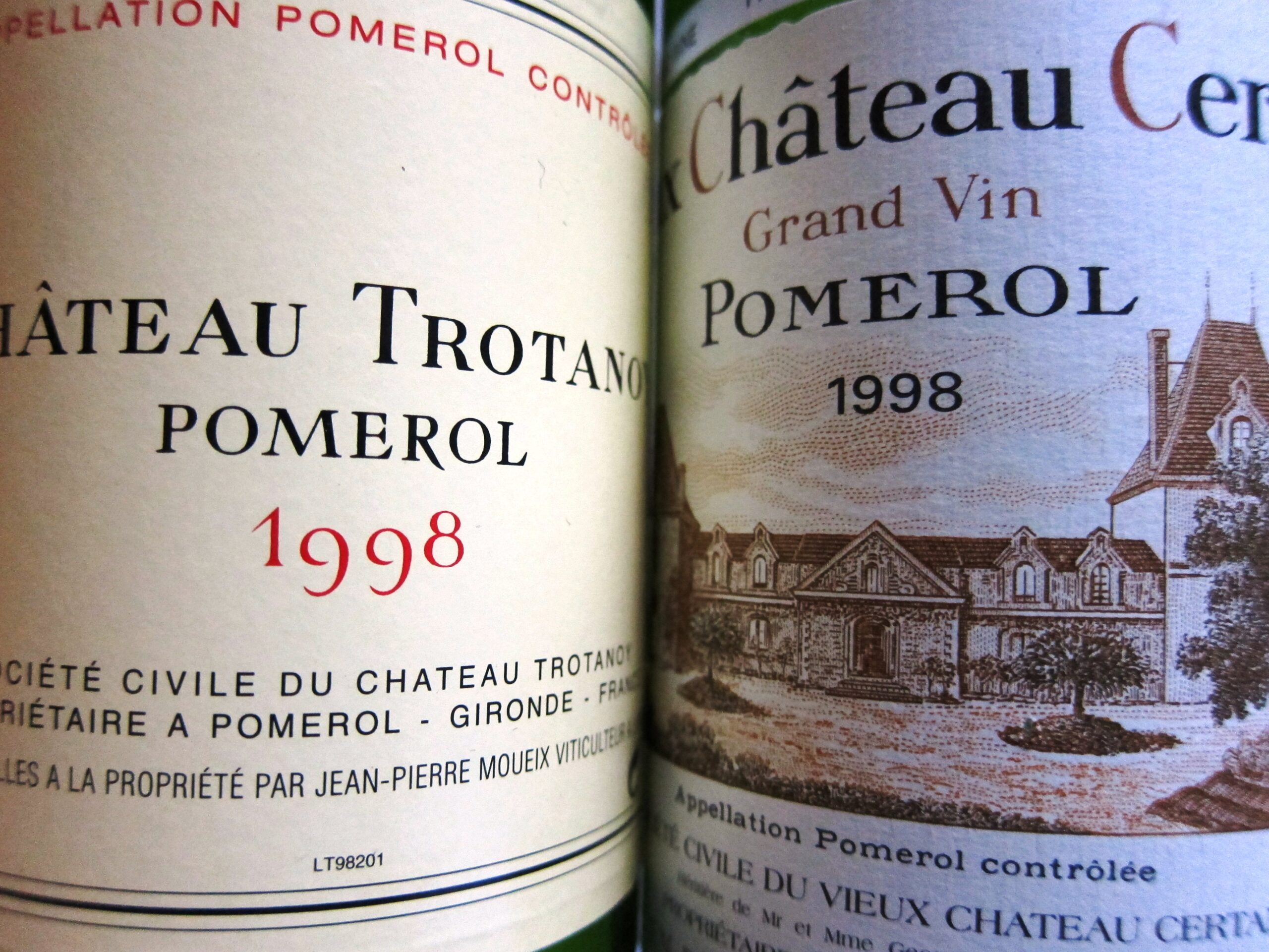 1998 Trotanoy, 1998 Vieux Chateau Certan Tasted, Reviewed, Compared