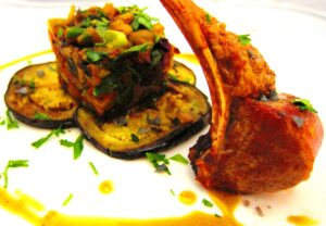 Lambchop with Eggplant 300x208 Bordeaux wine with Lamb and Eggplant Hash Wine, Food Pairing