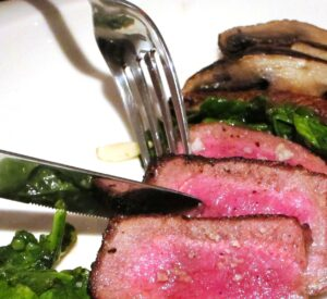 Steak Fork Knife 300x275 Bordeaux Wine Grilled Beef & Mushrooms Makes a Perfect Match