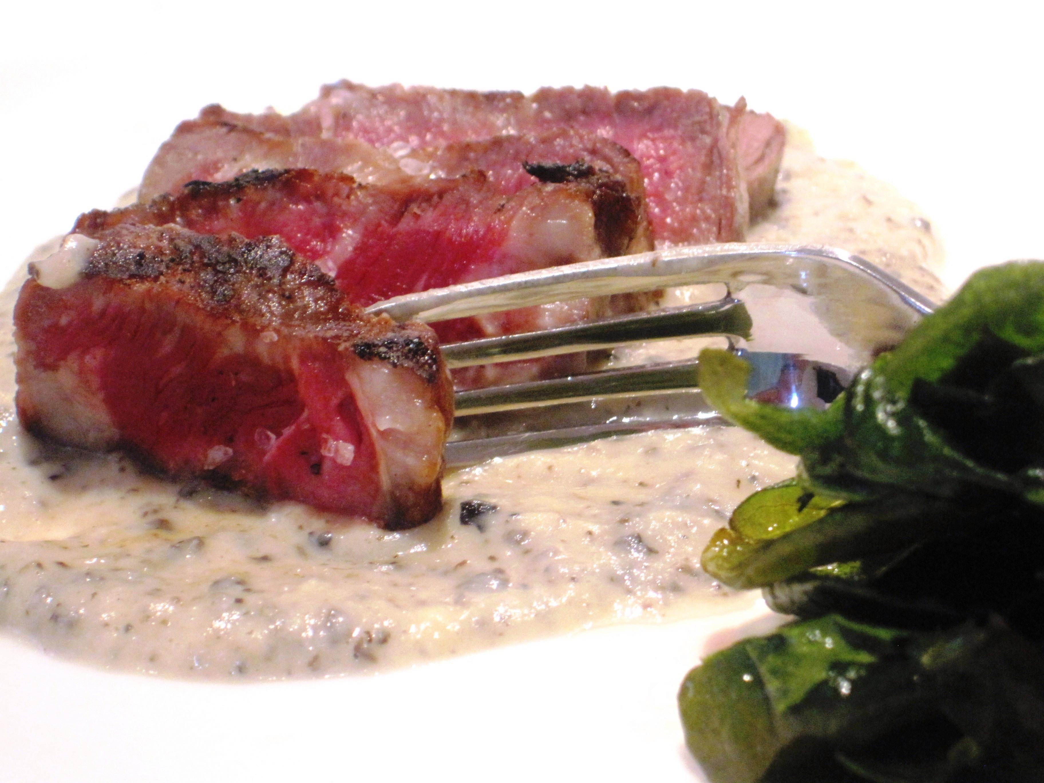 Steak and Bordeaux wine