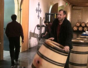 2010 HB April Cellars Workers 300x234 2010 Haut Brion Red and White Wine Flirts with Perfection in Bordeaux