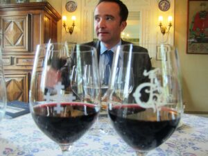 2010 HB April Delmas Lunch 300x225 2010 Haut Brion Red and White Wine Flirts with Perfection in Bordeaux