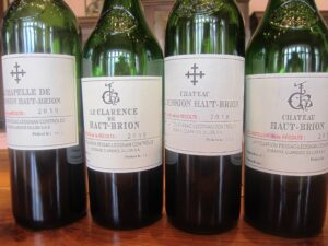 2010 HB April bottles 300x225 2010 Haut Brion Red and White Wine Flirts with Perfection in Bordeaux
