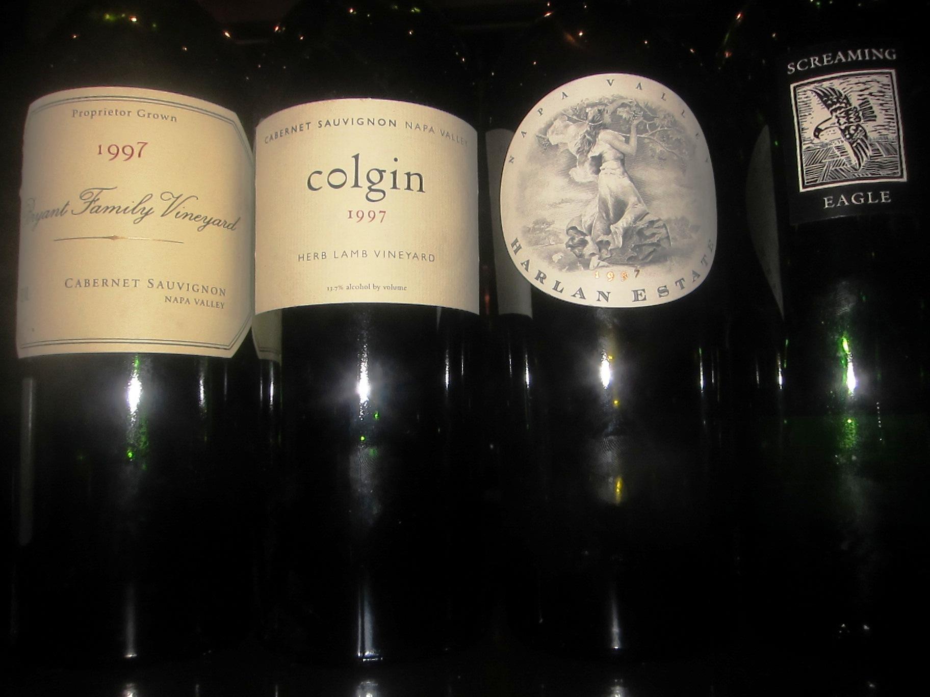 California Cult Cabs Harlan, Screagle, Colgin, Bryant