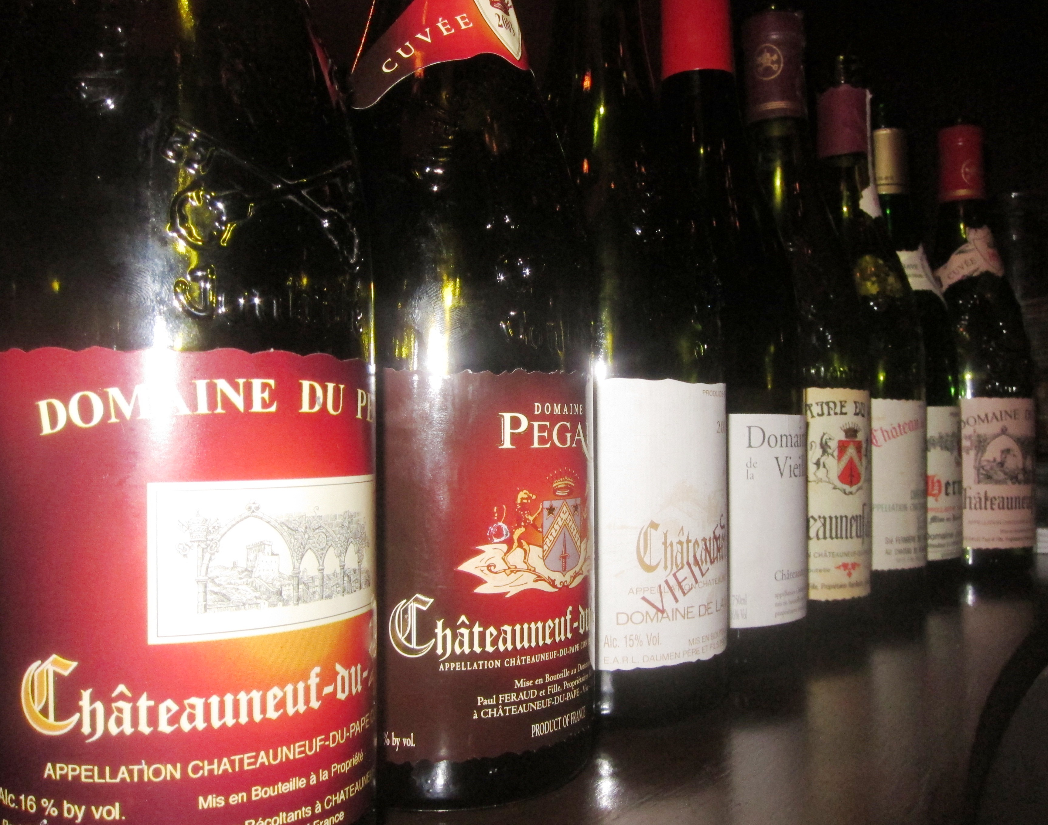 Chateauneuf du Pape Rhone Wines in London at The Ledbury