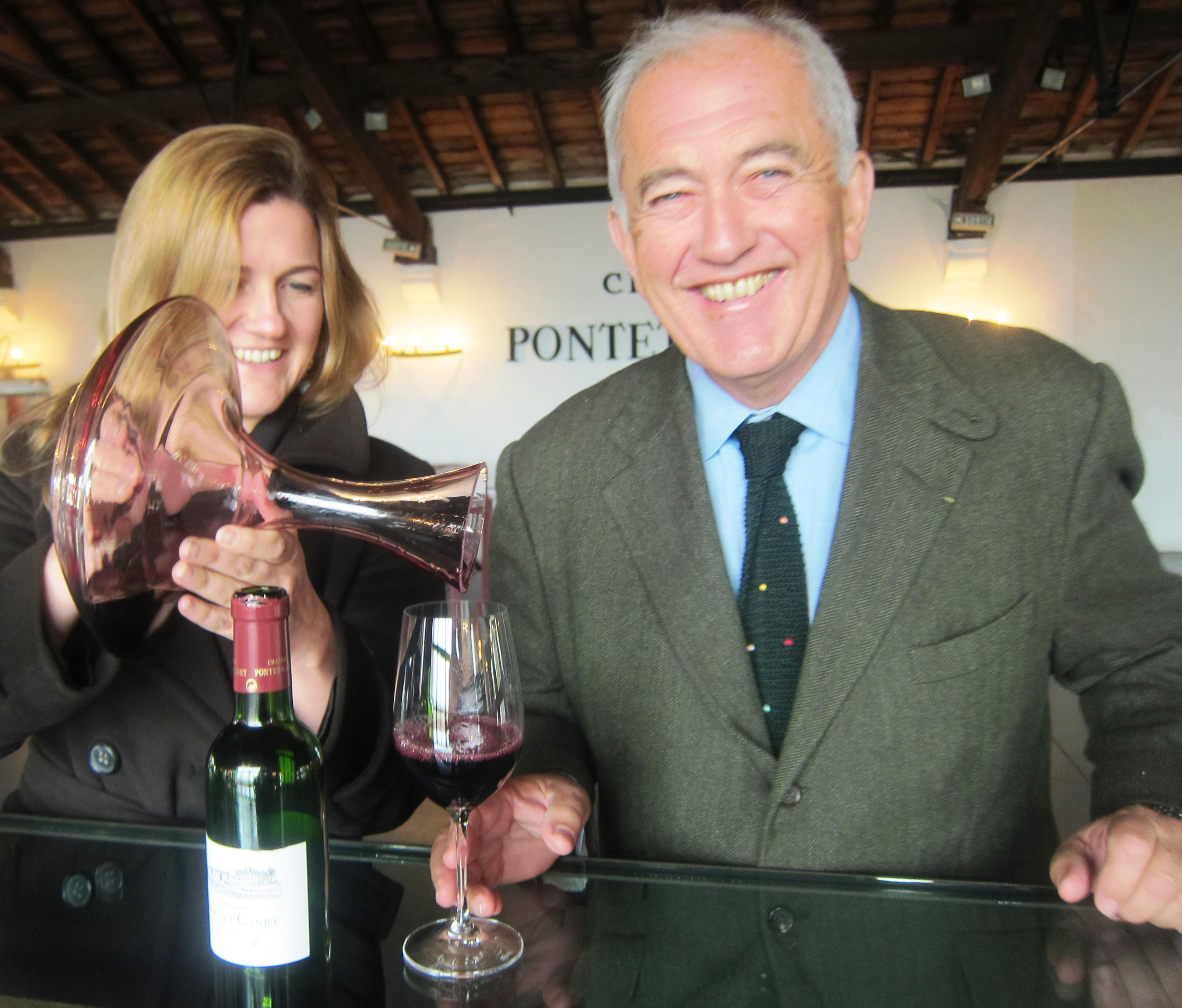 Pontet Canet Alfred Tesseron Melanie Tesseron 2010 Bordeaux wine