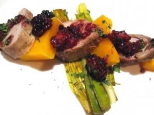 pork Squash berries 300x224 Pork, Grenache, Rib Cap, Squash, Chateauneuf du Pape Wine Food Pairing