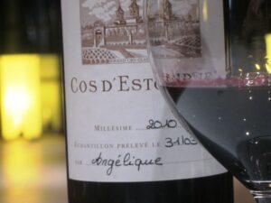 2010 april cos glass 300x225 2010 Cos dEstournel, 2003 Cos dEstournel with Jean Guillaume Prats