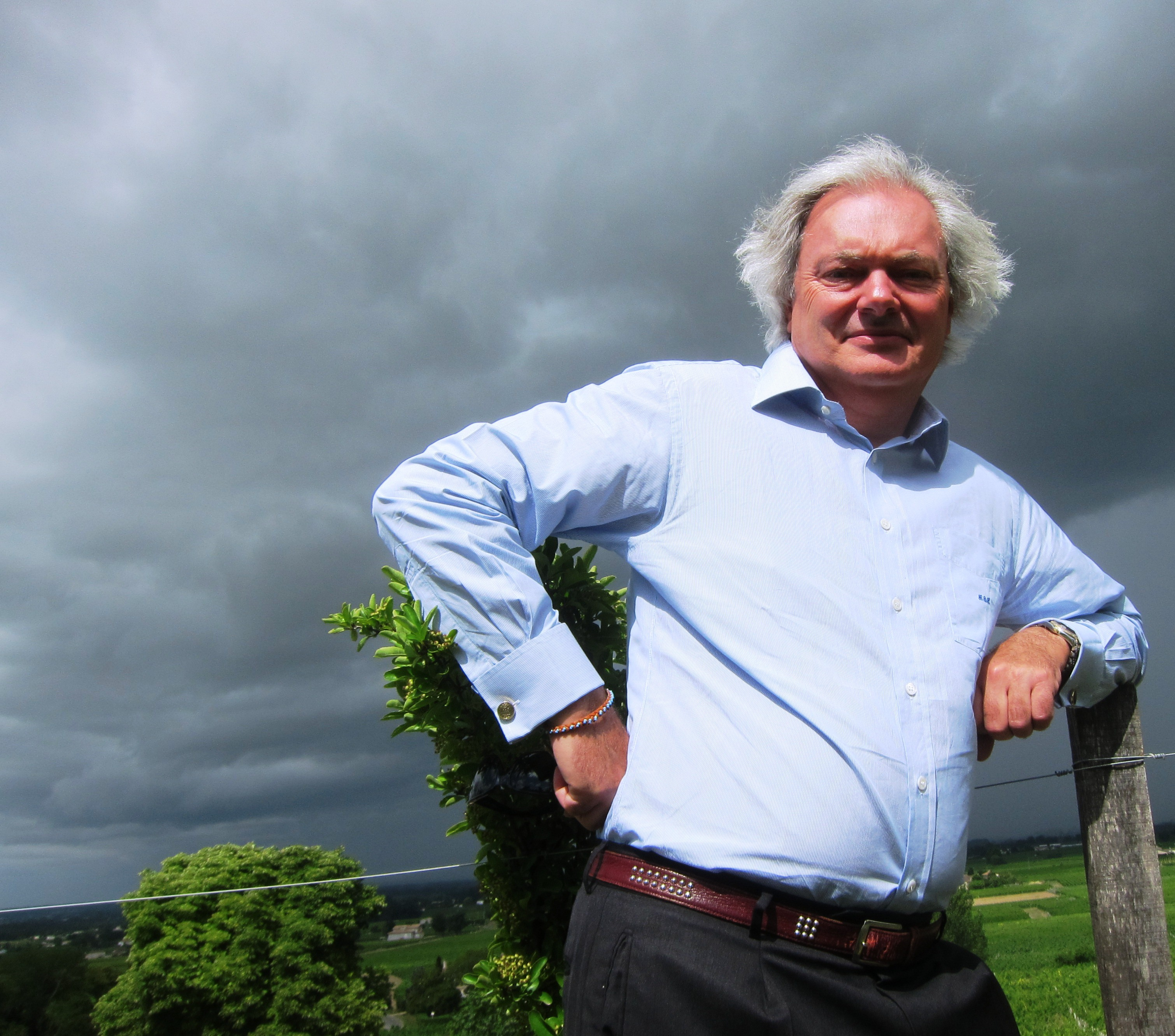 Chateau Angelus with owner Hubert de Bouard