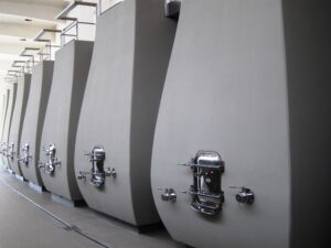 Cheval Blanc Vats 300x225 2010 Cheval Blanc, High Prices, Stunning New Cellars in St. Emilion