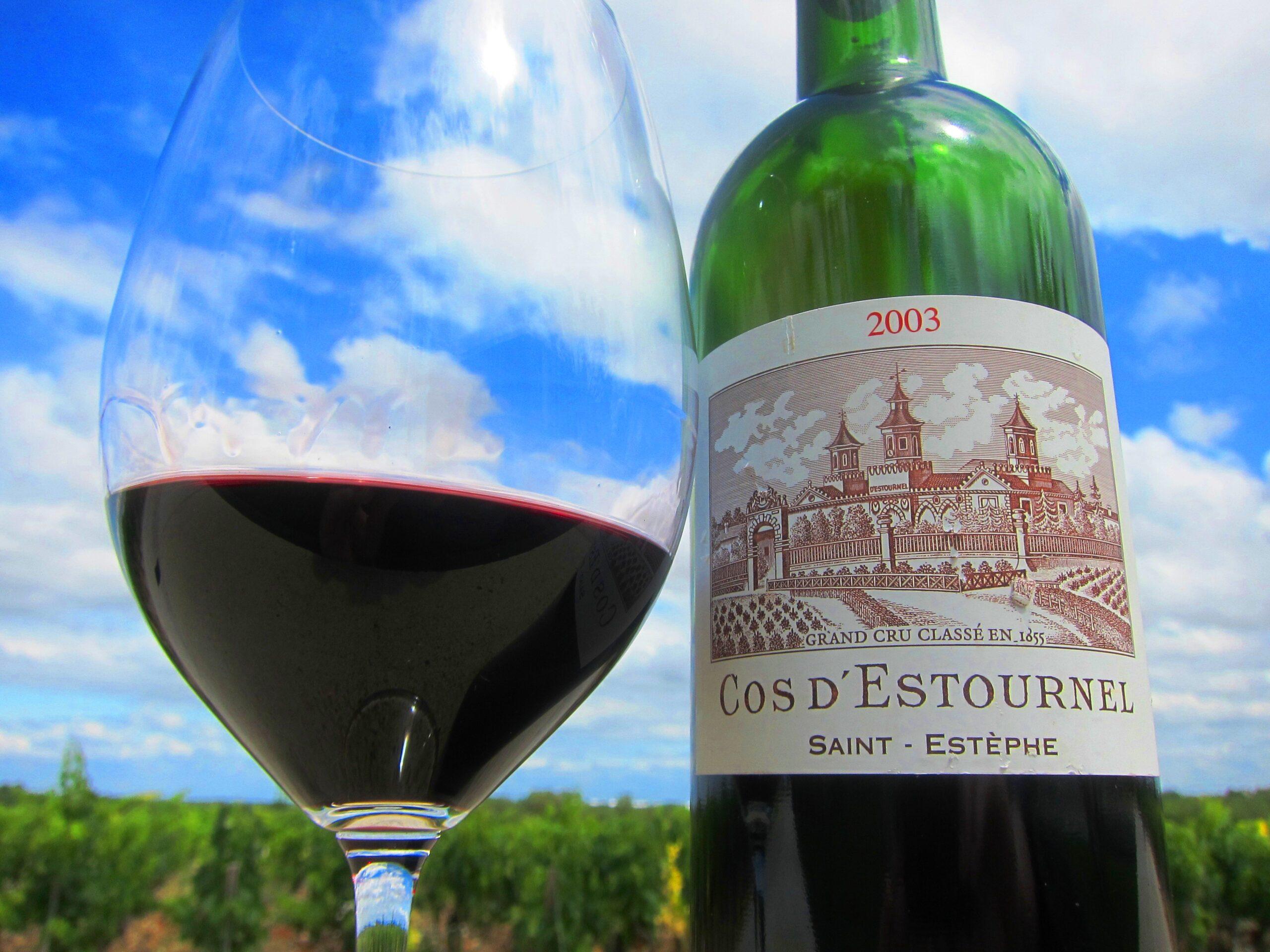 2010 Cos d'Estournel, 2003 Cos d'Estournel with Jean Guillaume Prats