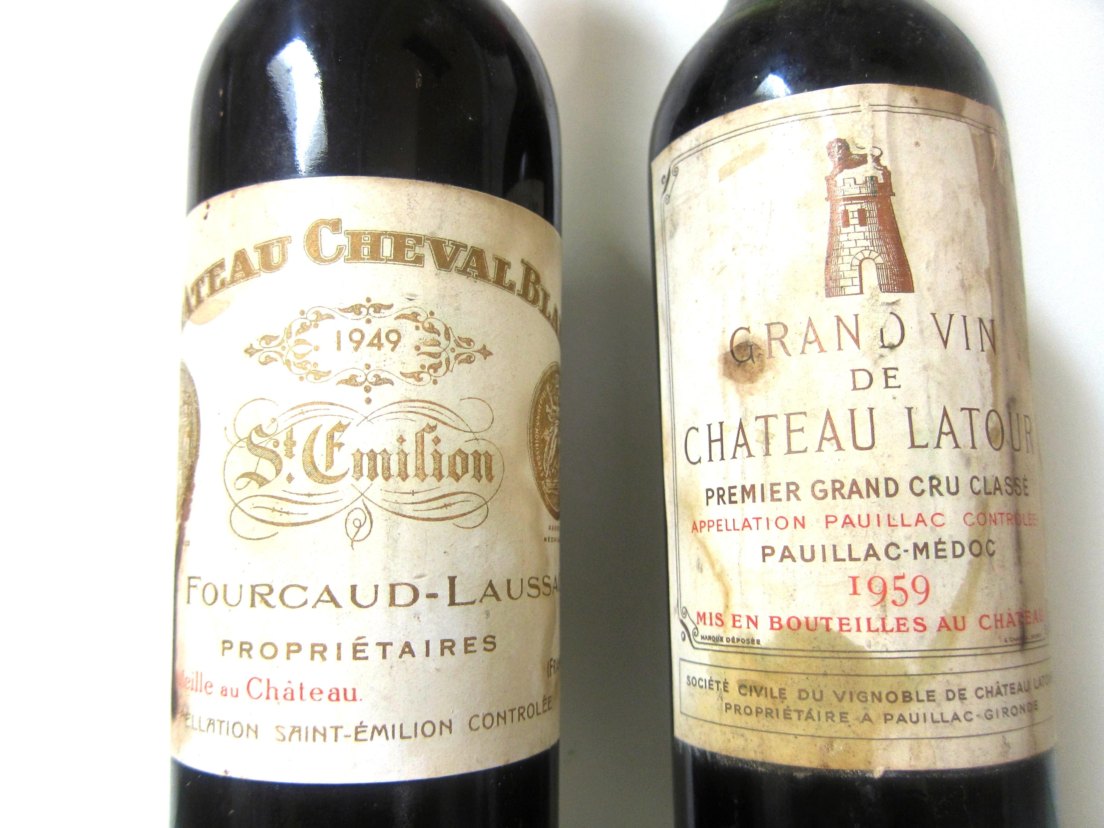 1959 Latour 1949 Cheval Blanc