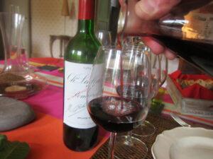 Chateau Lafleur Wine at lunch 300x225 Lafleur Pomerol Tasting, 1989   2010 with Jacques Guinaudeau