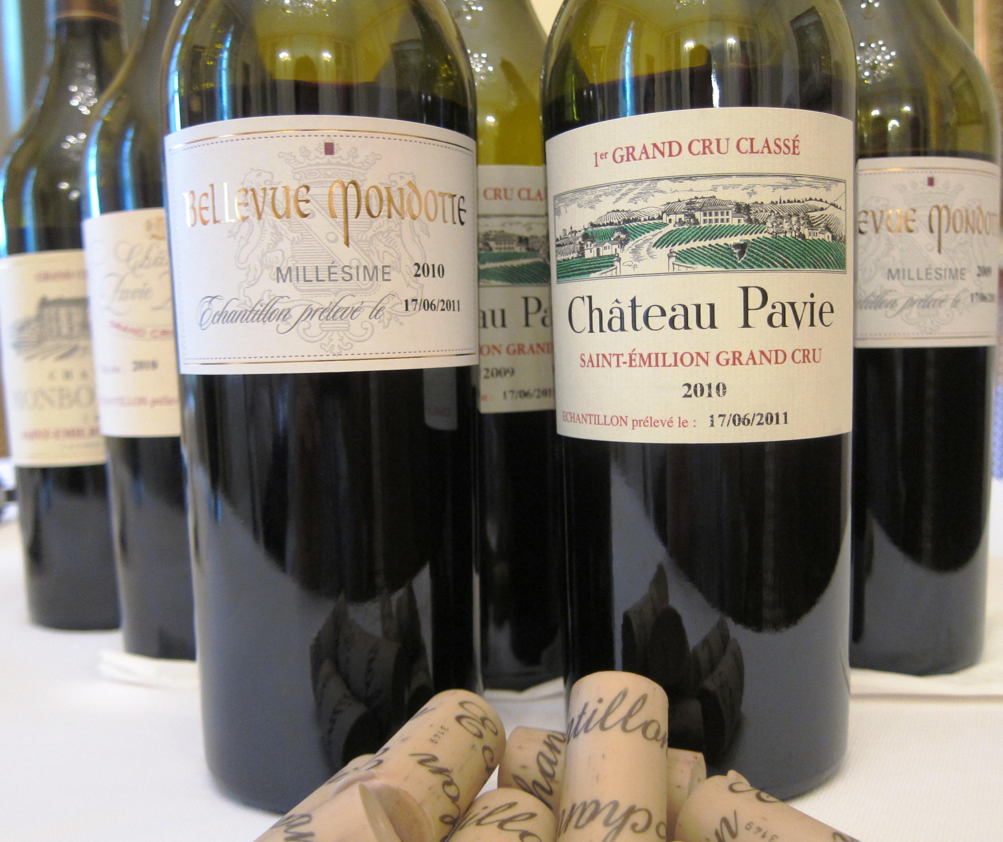 2010, 2009 Pavie Bellevue Mondotte Pavie Decesse Monbousquet