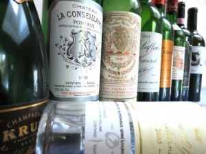 NYE bottles 2 300x224 Wines from New Years Eve Bordeaux, Champagne and a Discovery