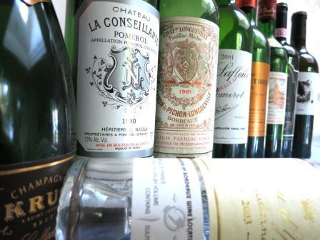 Wines from New Years Eve Bordeaux, Champagne and a Discovery
