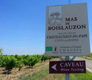 Mas de Boislauzon Sign 300x261 Mas de Boislauzon Chateauneuf du Pape Rhone Wine, Complete Guide