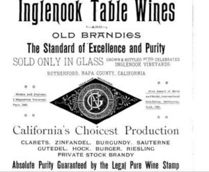 Inglenook Wines 300x247 Inglenook Niebaum Coppola Estate Winery Napa Valley California Wine