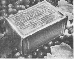 Prohibition grape bricks 300x241 Complete Napa Valley California Wine History from Early 1800s to Today
