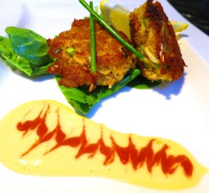 Crab 300x277 Crab Cakes, Aubert Chardonnay, a Perfect Summer Wine, Food Pairing