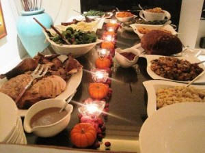 Tday Table 300x224 The Best, Affordable, Thanksgiving Wine and Food Pairings