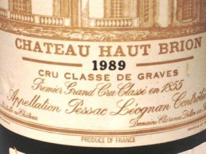 89 Haut Brion 300x224 List of the Top Ten Wines Tasted in the Year 2012