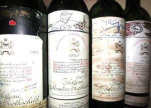 Mouton Bottles 300x216 Mouton Rothschild through the ages, 1955, 1961, 1962, 1982, 1986, 1996