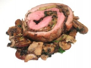 Veal truffle roll 300x224 Veal Stuffed with Truffles paired with Old Bordeaux for Dinner