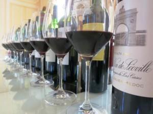 Leoville bottles 300x224 2012 St. Julien Bordeaux Wine Tasting Notes In Barrel Ratings