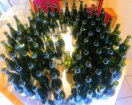 Chateauneuf du Pape Wine Bottles