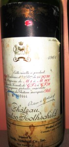 1961 Mouton 142x300 List of the Top Ten Wines of 2013, Plus a Wine Deserving Honorable Mention