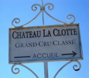 La Clotte Sign 300x262 Bordeaux News Alain Vautheir of Chateau Ausone buys Chateau La Clotte