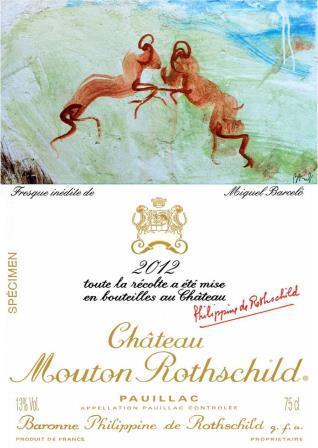 2012 Mouton Rothschild Label Features the Art of Miquel Barcelo