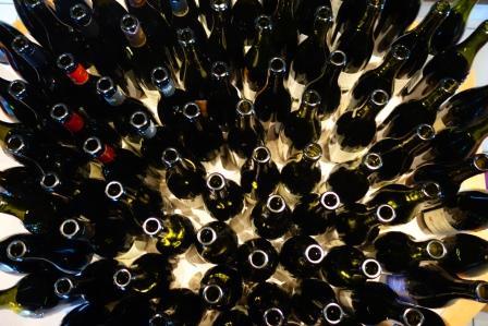 2015 Chateauneuf wine bottles